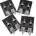 Native American All Silver Western Earrings 39465