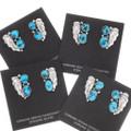 Navajo Made Turquoise Earrings 39474