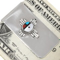 Turquoise Inlay Zuni Turquoise Money Clip 39481