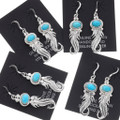 Turquoise Southwest Native American Earrings 39491