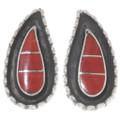Red Coral Native American Earrings 39495