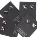Southwest Geometric Pattern Turquoise Earrings 39503