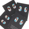 Native American Design Gemstone Turquoise Earrings 39506