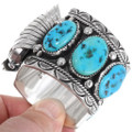 Sterling Silver Navajo Watch Bracelet 39513