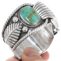 Vintage Battle Mountain Turquoise Silver Watch Cuff 39515