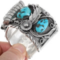 Sterling Silver Native American Turquoise Watch Bracelet 39517