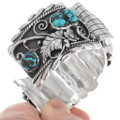Arizona Turquoise Nugget Sterling Silver Watch 39518