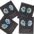 Sleeping Beauty Turquoise Navajo Post Earrings 39533