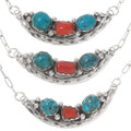 High Grade Coral Turquoise Necklace 39547