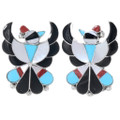 Zuni Inlaid Thunderbird Earrings 39553
