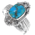 Turquoise Sterling Silver Feather Ring 39566