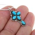 Petite Turquoise Silver Cross Jewelry 39576