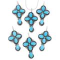 Navajo Artist Terry Dishta Turquoise Cross Pendant 39576