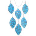 Sleeping Beauty Turquoise Silver Pendant