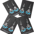 Western Santa Fe Turquoise Dangle Earrings 39594