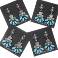 Sterling Silver Turquoise Dangle Earrings 39596