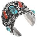 Natural Vintage Turquoise Nuggets Navajo Bracelet 39604