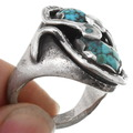 Effie Calavaza Snake Design Zuni Arizona Turquoise Ring 39605