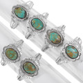 Green Turquoise Number 8 Nevada Navajo Cuff Bracelets 39620