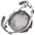 Kingman Turquoise Sterling Silver Navajo Old Pawn Bracelet 39644