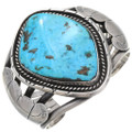 Old Pawn Turquoise Silver Navajo Bracelet 39652
