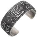 Native American Textured Overlaid Cuff Bracelet 39655