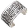 Vintage Navajo Hammered Sterling Silver Cuff 39670