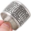 All Sterling Silver Navajo Bracelet 39670