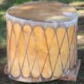 Authentic Native Made Pueblo Ceremonial Drum 39265