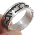 Old Pawn Native American Silver Ring 39705