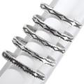 Navajo Pattern All Sterling Silver Bracelets 39763
