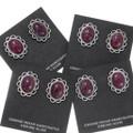 Native American Ruby Silver Earrings 39791