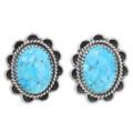 Navajo Blue Turquoise Earrings 39794