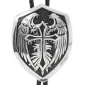 Sterling Silver Eagle Cross Navajo Bolo Tie 39796