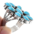 Native American Turquoise Cluster Ring 39809