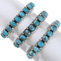 Native American Made Silver Turquoise Western Cuff 39812