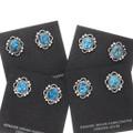 Kingman Turquoise Nugget Sterling Silver Post Earrings 39818