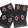 Red Coral Native American Post Earrings 39821