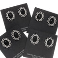 Black and Silver Western Post Earrings 39822