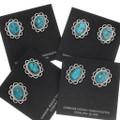Bisbee II Turquoise Sterling Silver Navajo Earrings 39824