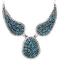 Arizona Turquoise Navajo Cluster Necklace 39827
