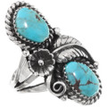 Genuine Turquoise Silver Ring 19685