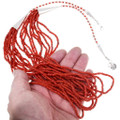 Eleven Strand Coral Bead Necklace 39844