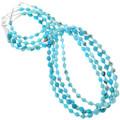 Native American Beaded Arizona Turquoise Necklace 39853