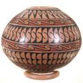 Detailed Hand Painted Geometric Design Mata Ortiz Pot 39862
