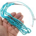High Grade Turquoise Beads Navajo Made Necklace 39870