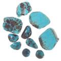 Bisbee Color Aqua Blue Reddish Brown Matrix Turquoise Rough 35579