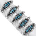 Sterling Silver Arizona Turquoise Navajo Bracelets 39891