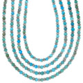 Native American Turquoise Silver Beaded Necklace 39892