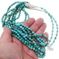 Navajo Beaded Arizona Turquoise Necklace 39896